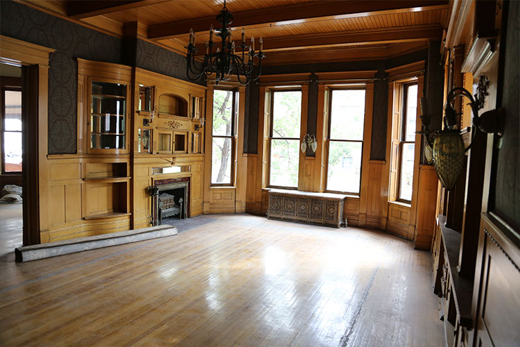 Photo of a room inside the mansion